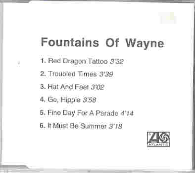 Fountains Of Wayne Red Dragon Tattoo