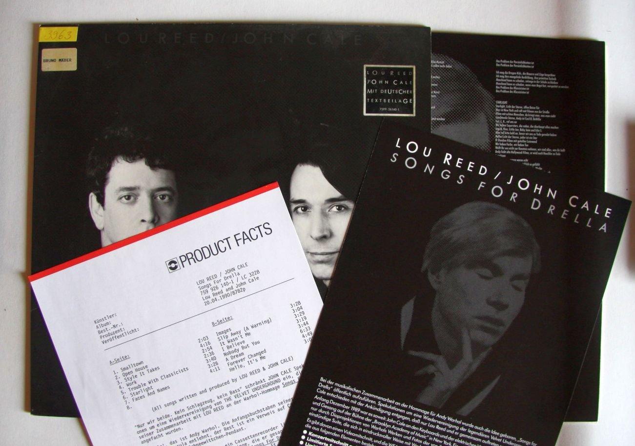 Lou Reed - Songs For Drella Vinyl