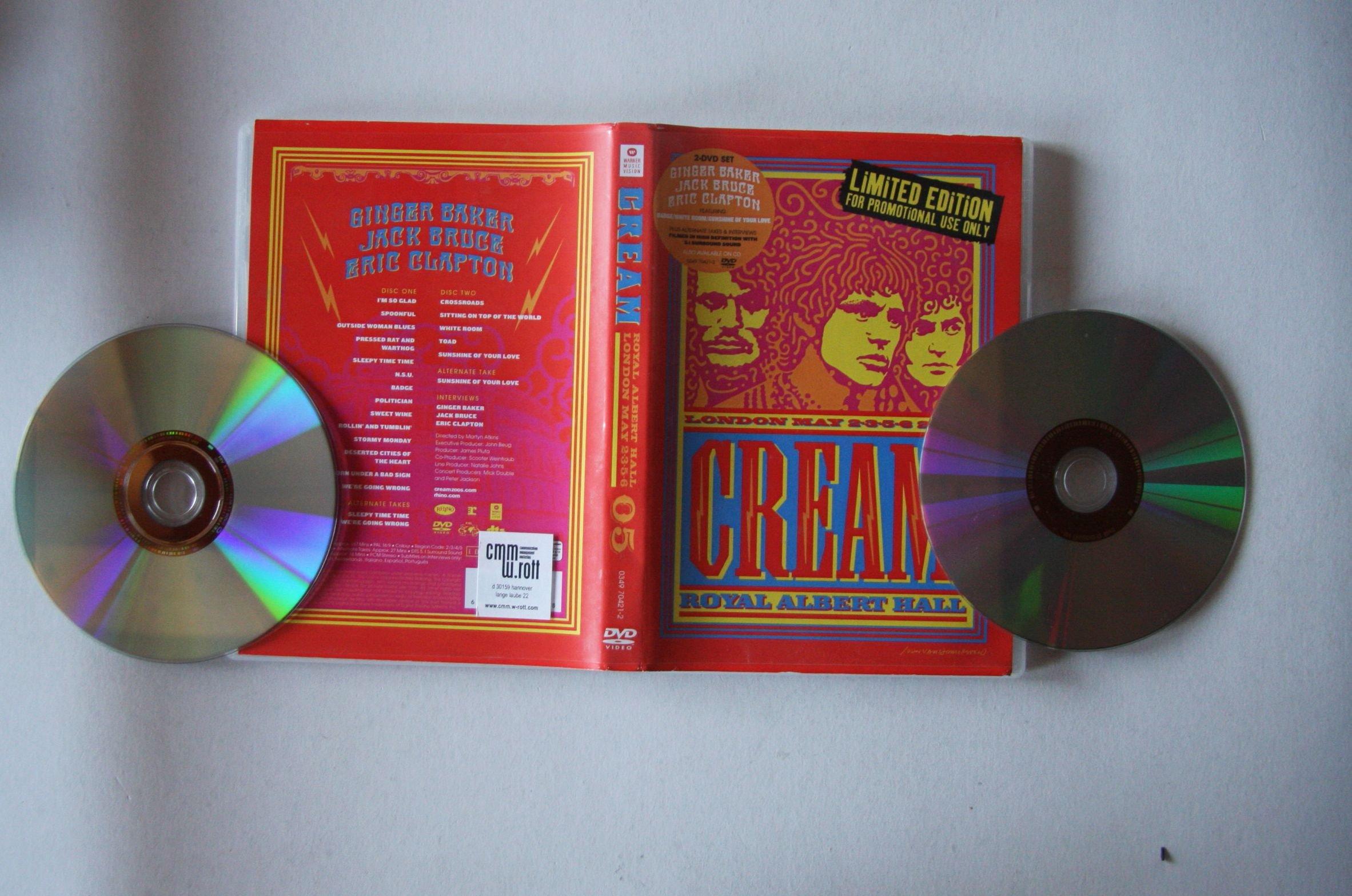 Cream - Royal Albert Hall - London - May 2-3-5-6 05