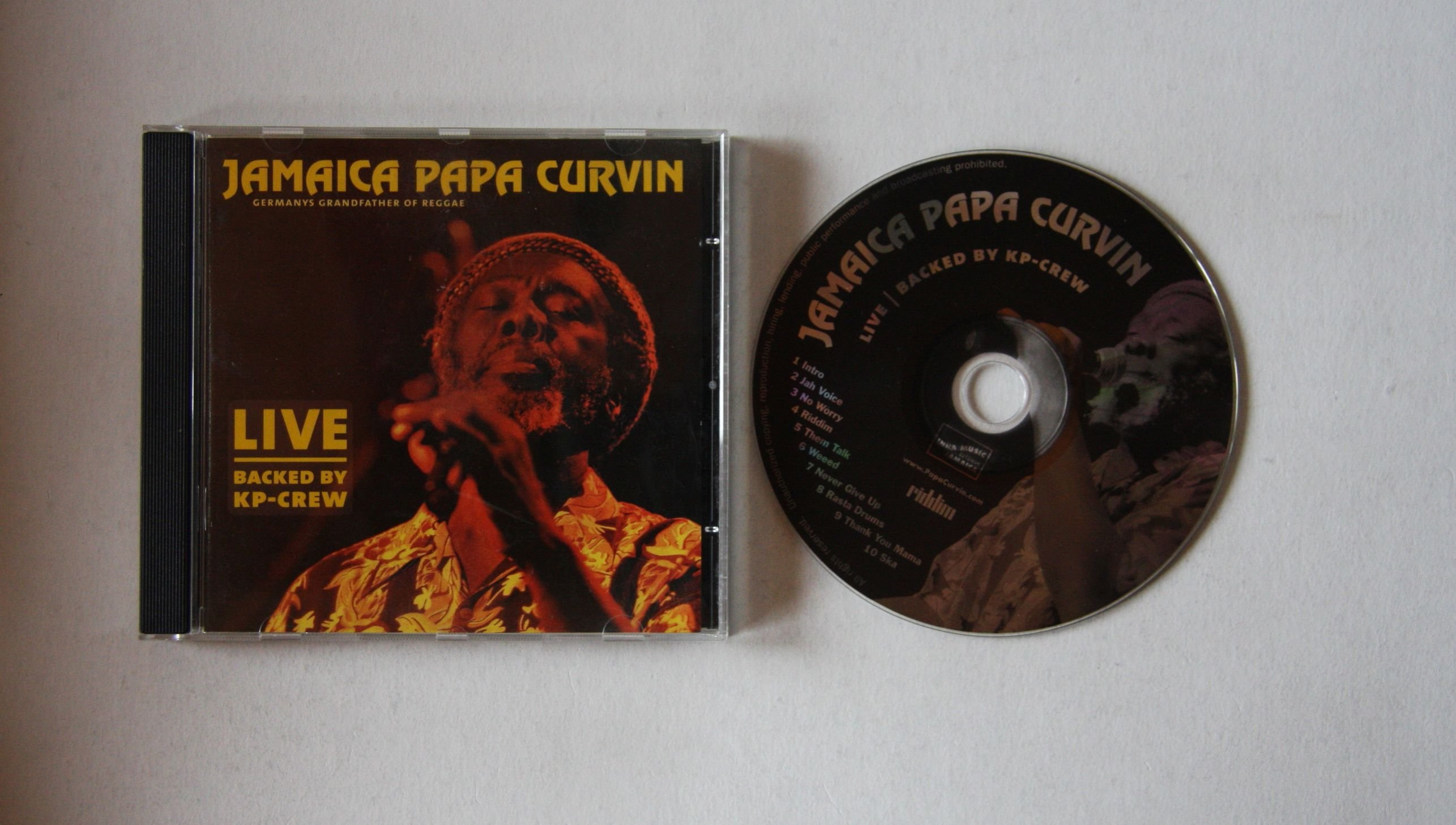 Jamaica Papa Curvin - Live - Backed By Kp-crew
