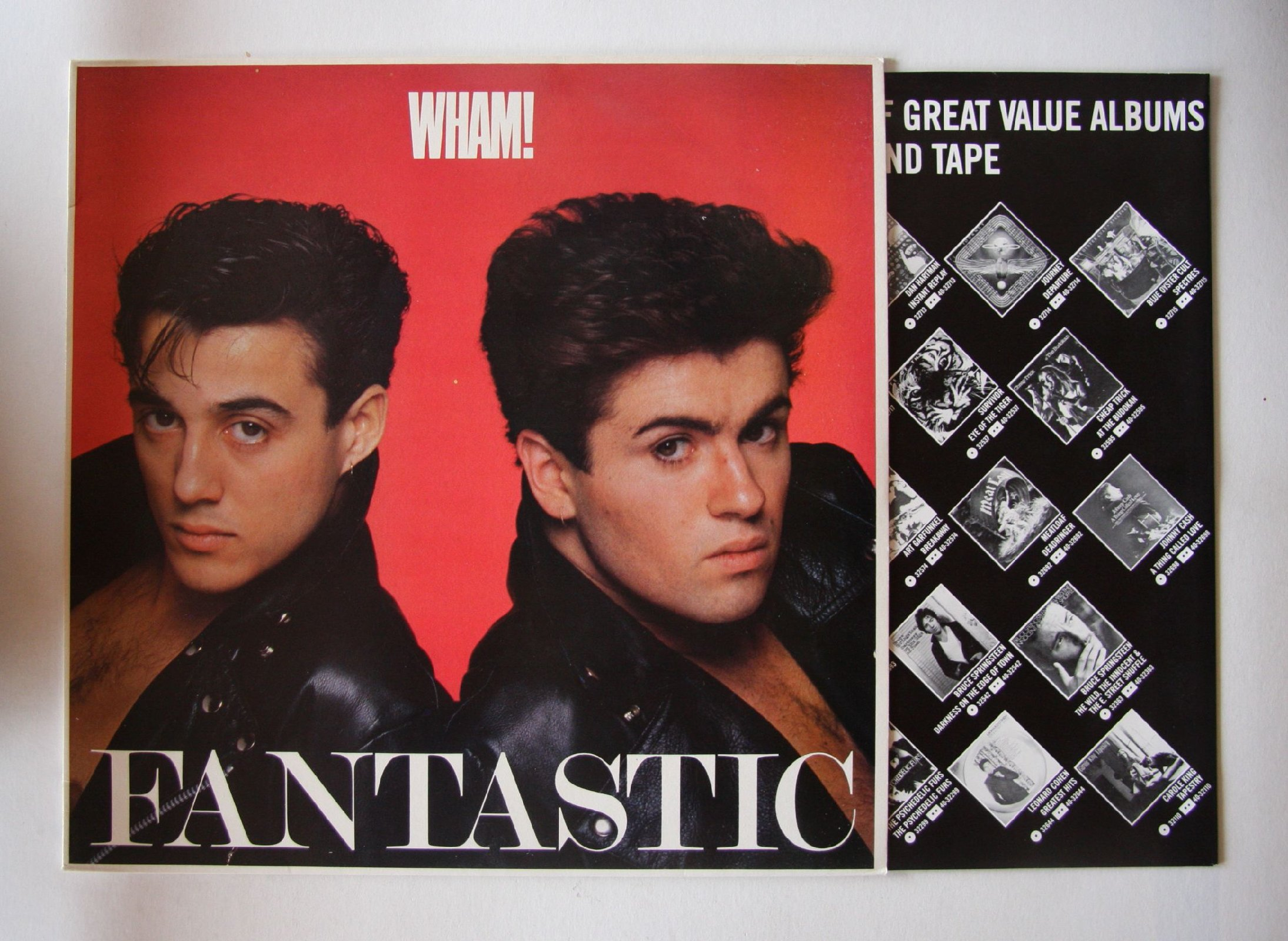 Wham Fantastic Uk Lp 1988 2nd Uk Press Inc Lyric Insert