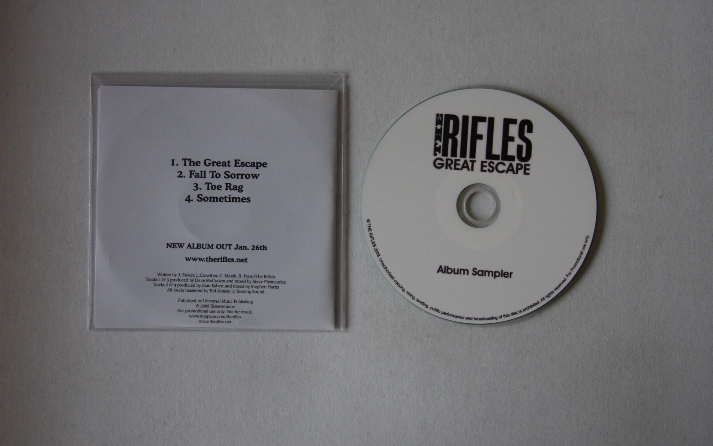 Rifles Great Escape Records Lps Vinyl And Cds Musicstack
