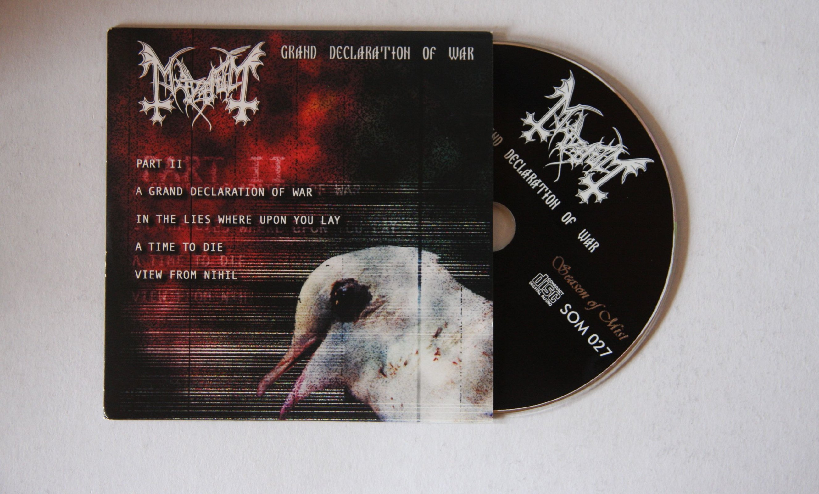 mayhem grand declaration of war f adv cardcover cd 2000