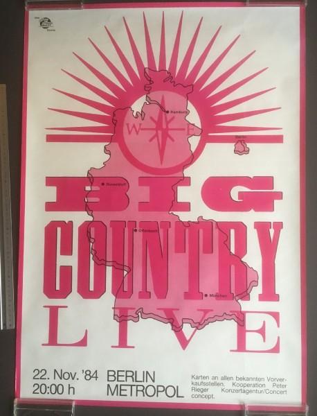 Big Country - Original Gig Poster Berlin Metropol 22.Nov. 1984